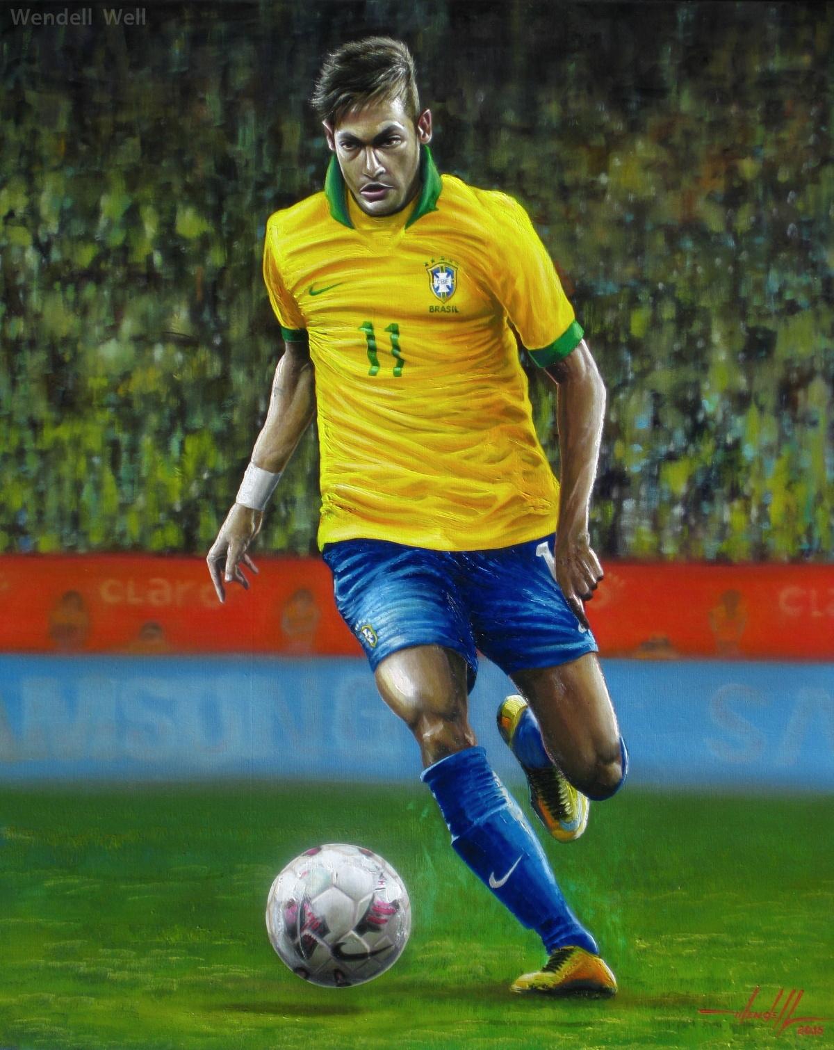 Pintura Neymar