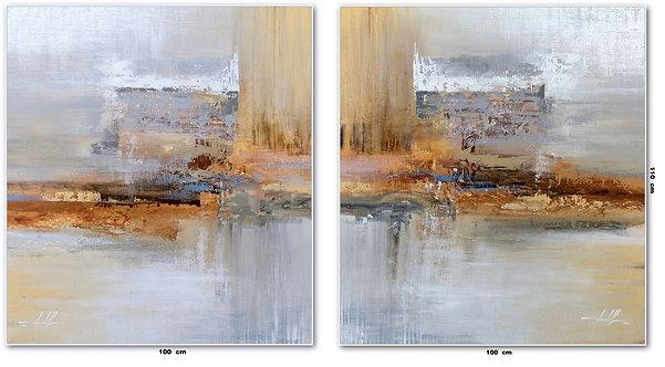 Duas Telas Abstratas Para Quadros De 100 cm X 110 cm Cada