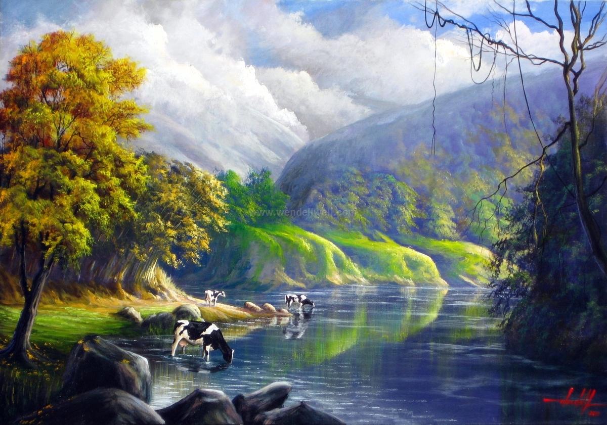paisagem mineira oleo sobre tela