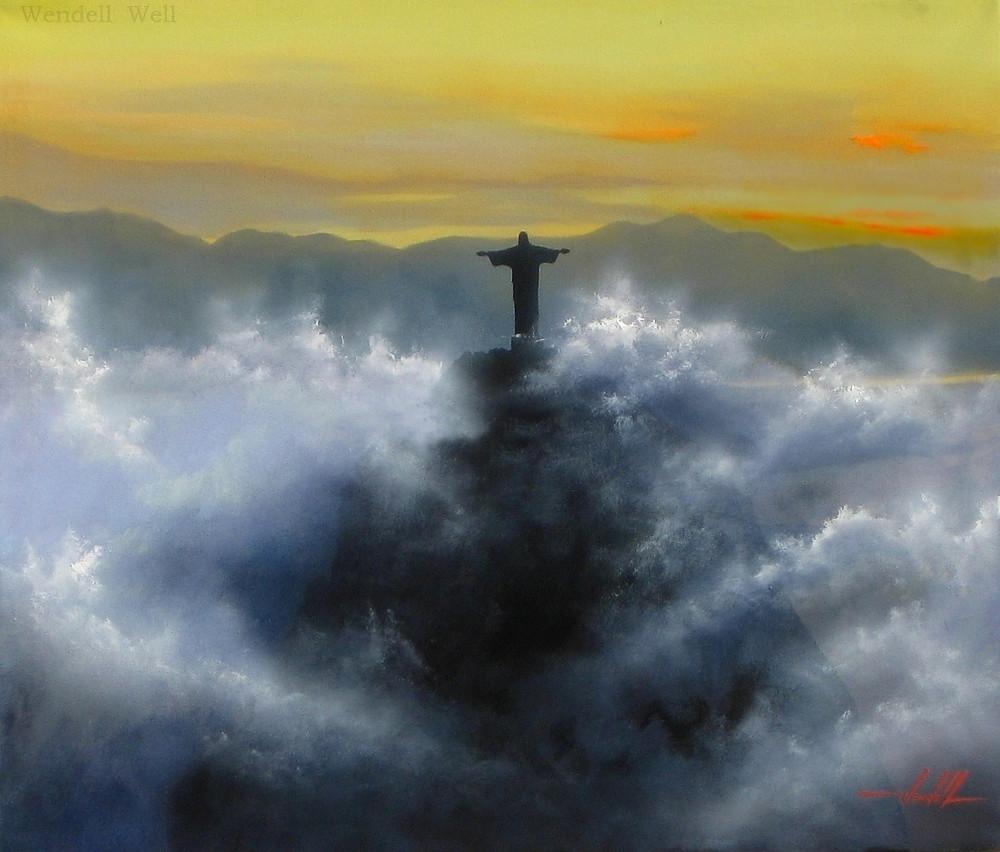 Quadro com Pintura em Tela do Rio de Janeiro
