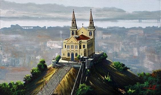 Pintura em Tela 100 cm X 60 cm - Igreja da Penha Rio de Janeiro