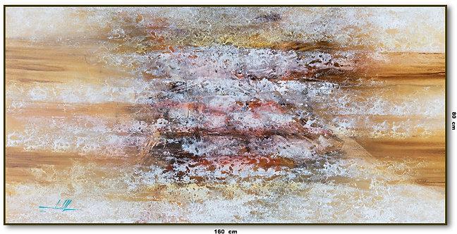 Tela Abstrata Para Quadro Óleo Sobre Tela 160 cm X 80 cm