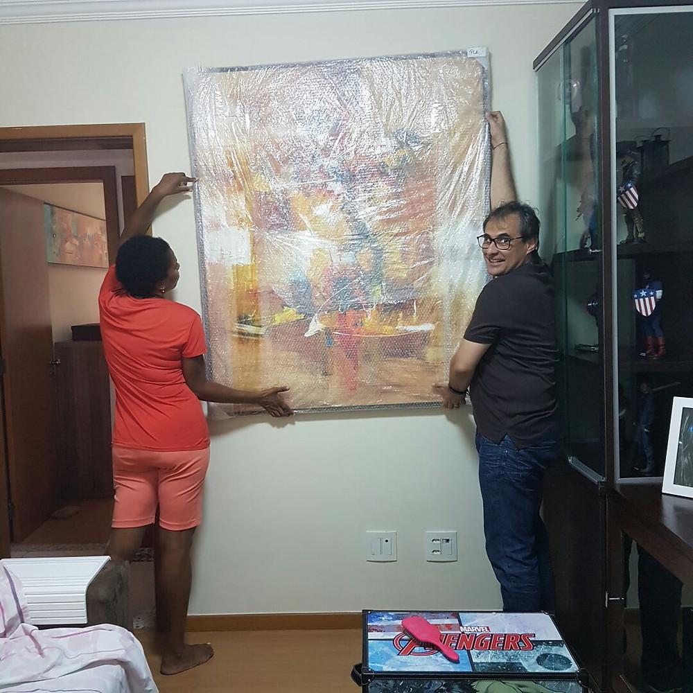 Pintura Contemporânea - Quadro Grande Para Sala