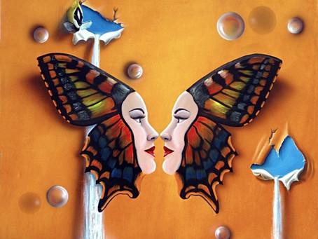 Obra Surrealista - As Gêmeas