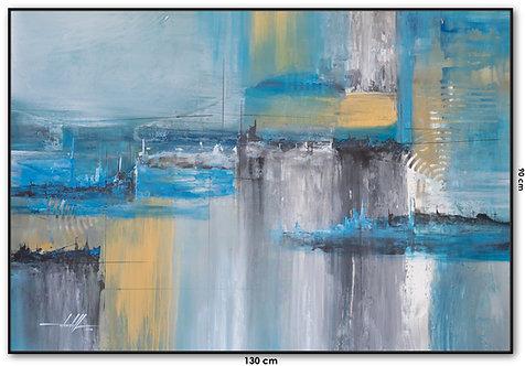 Pintura Abstrata Em Tela 130 cm X 90 cm - Utopia2
