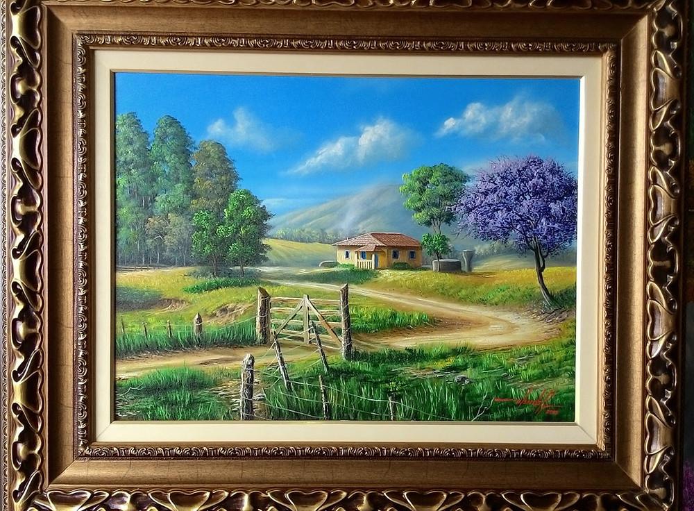 Pintura de Paisagem Bucólica