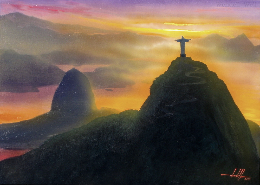 Pintura Rio de Janeiro Obra de Arte Exclusiva