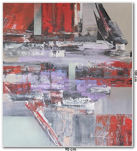 Pintura Abstrata Em Tela 90 cm X 100 cm Lahanna