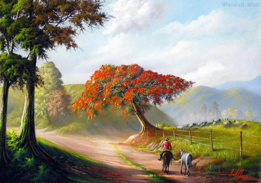 Pintura de Paisagem em Tela
