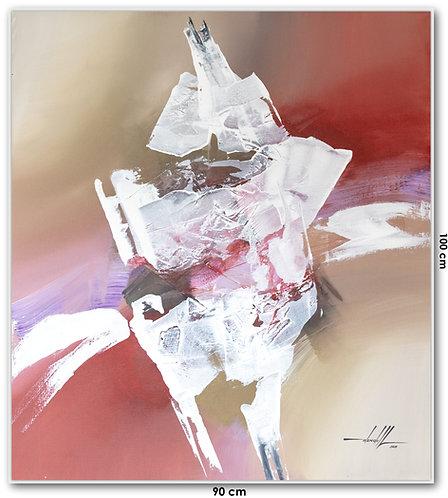 Pintura Abstrata Em Tela 90 cm X 100 cm TaloaMali