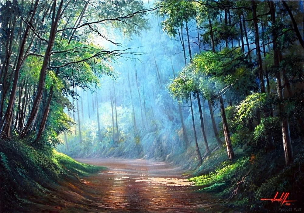 Obra de arte paisagem