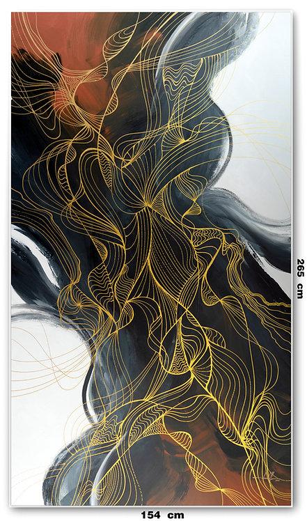 Tela Abstrata Para Quadro Grande 154 cm X 265 cm