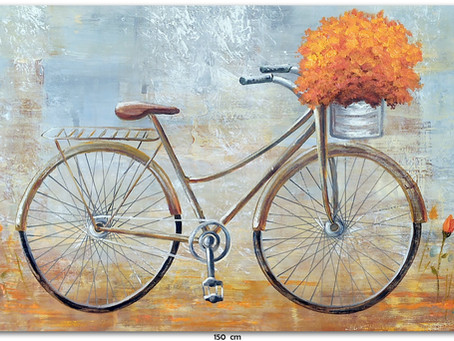 Pintura Em Tela - A Bicicleta