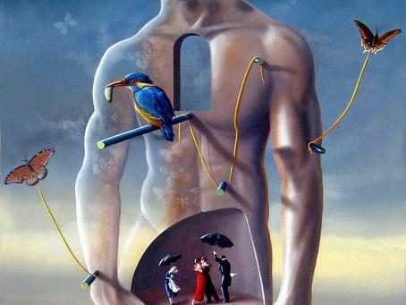 Obra Surrealista em Óleo Sobre Tela - A Dança