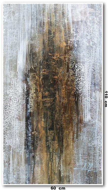 Tela Abstrata em Tela 60 Cm x 110 Cm