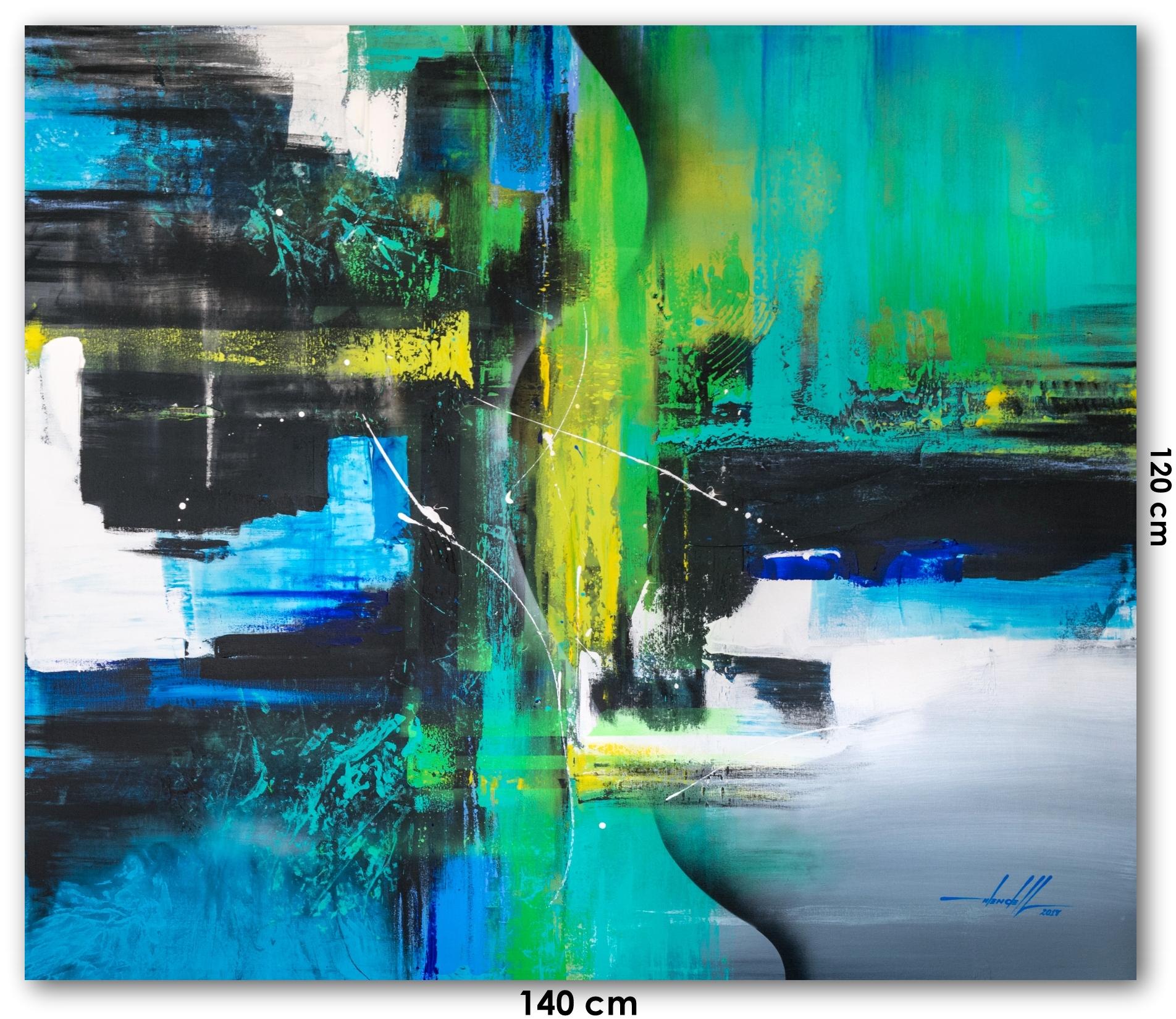 Pintura em tela abstrata passo a passo