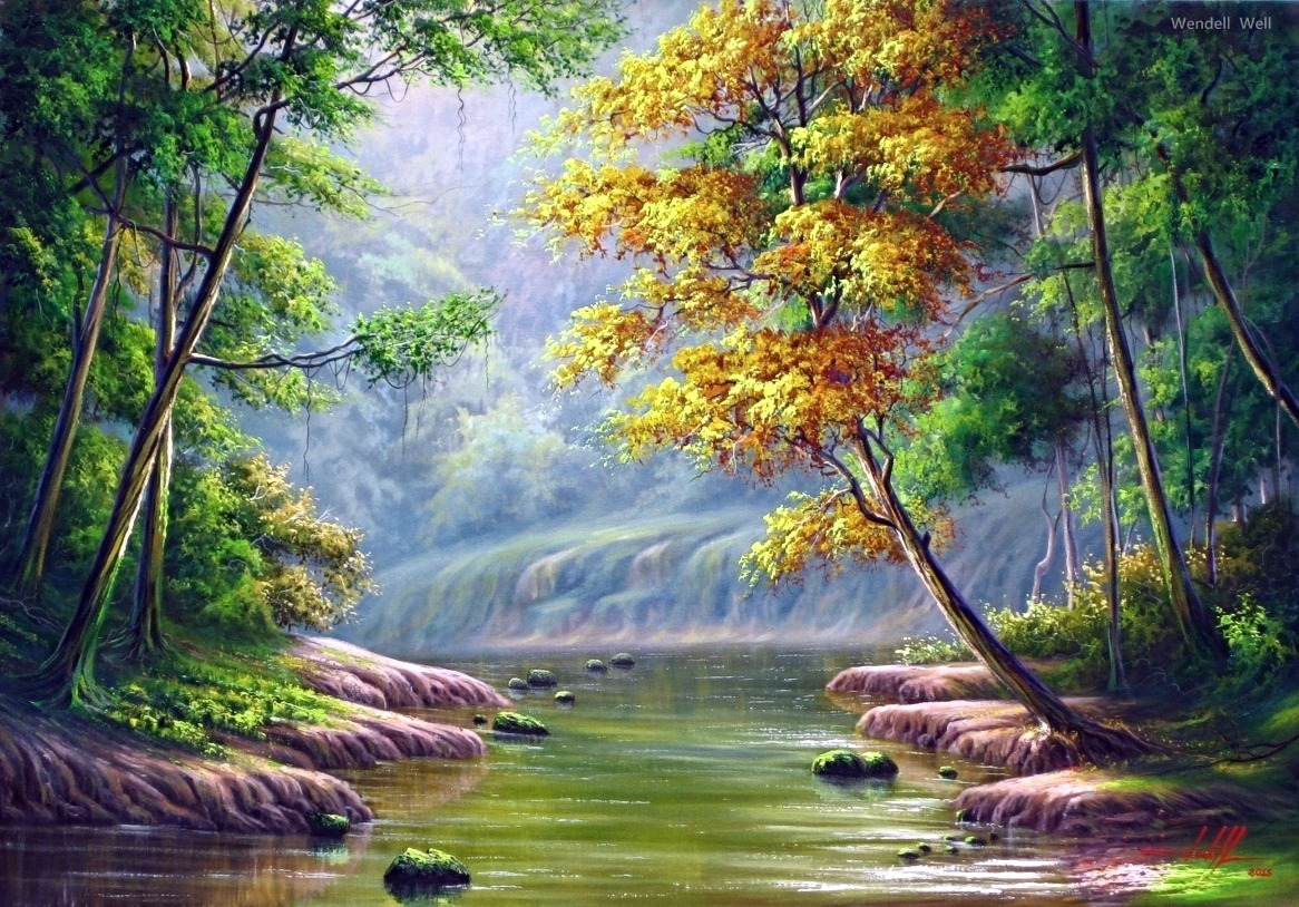 pintura em tela paisagem