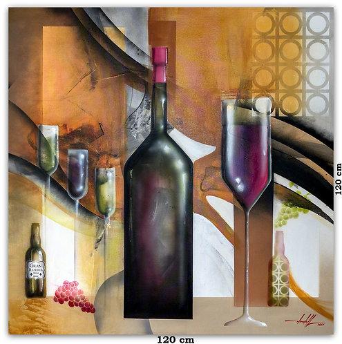 Pintura em Tinta Acrílica para Quadro de 120 cm X 120 cm
