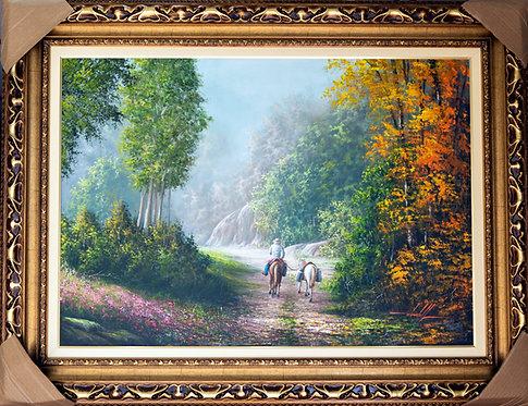 Pintura De Paisagem Em Tinta Oleo sobre Tela - 100 cm X 70 cm