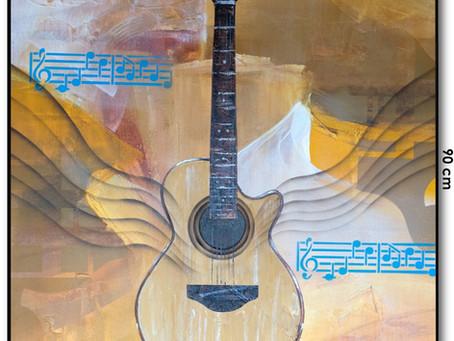 Pintura Figurativa Contemporânea - O Violão