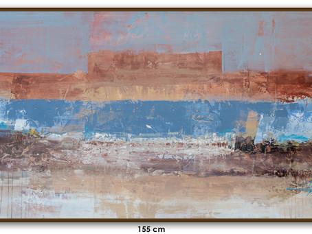 Tela Abstrata De 155 Cm X 80 Cm