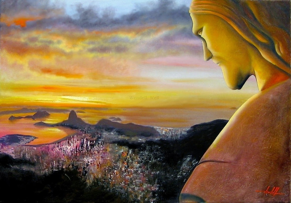 Pintura em Tela Cristo Redentor