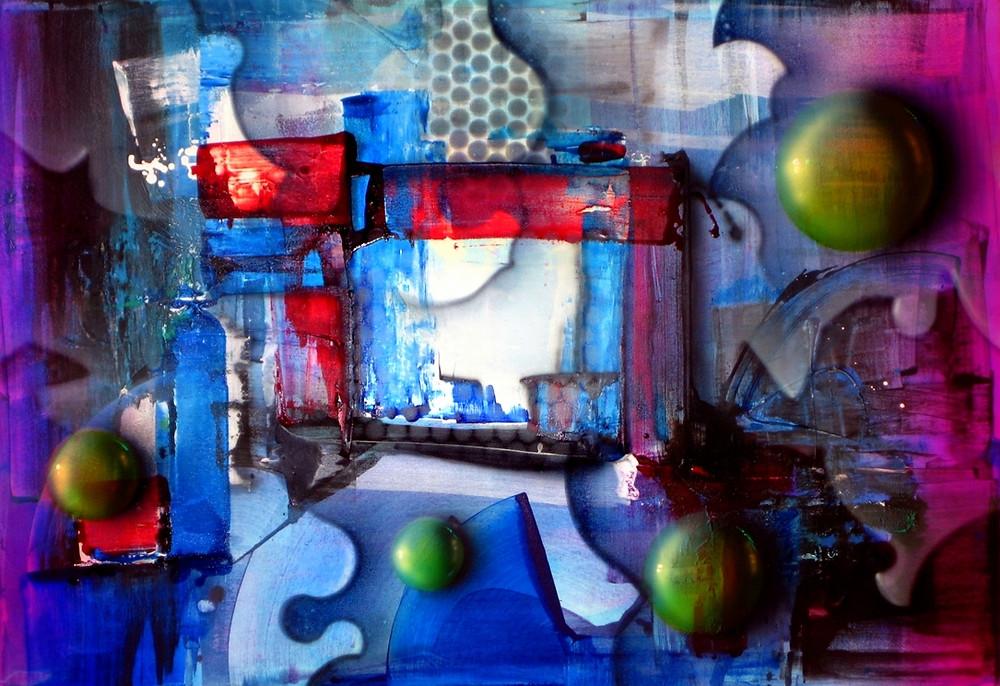 Quadro com Pintura Moderna em Tela