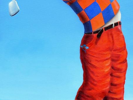 Pintura em Tela - O Golfista