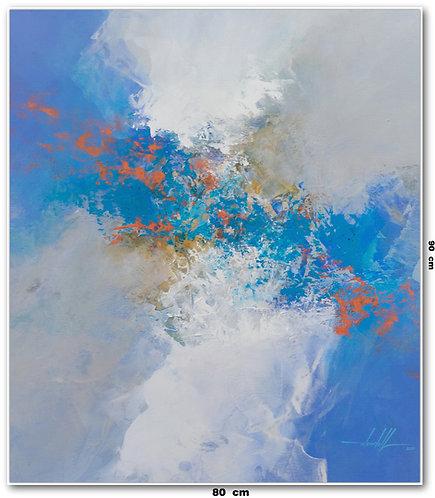 Pintura Abstrata Em Oleo Sobre Tela 80 cm X 90 cm