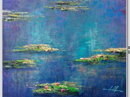 Óleo Sobre Tela Alá Monet