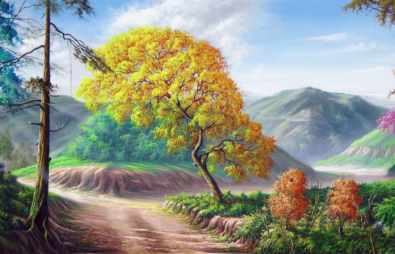pintura de caminho