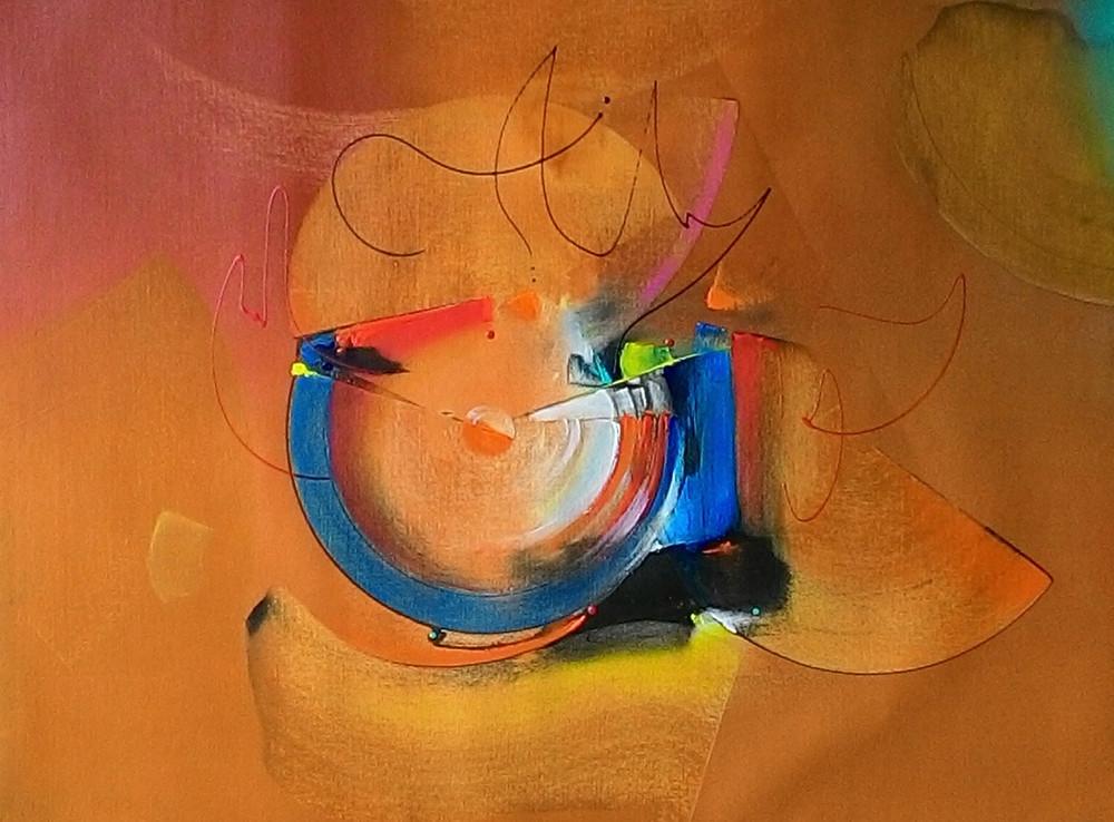 Pintura Contemporânea em Tela - Quadros para Sala