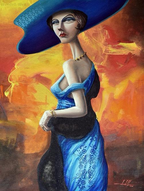 Pintura em tinta acrílica 75 cm X 100 cm - Carmella