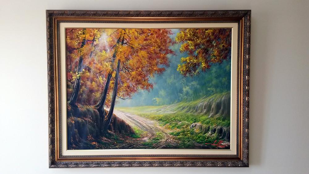 Quadro com Pintura em Tela de Caminho