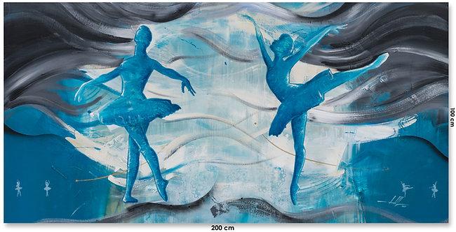 Pintura em Tela - Bailarinas no Balé