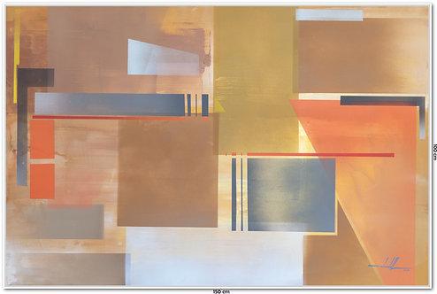 Tela Abstrata Em Tinta Acrílica 1,50 m X 1,00 m Quadro 4