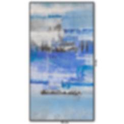 Tela Abstrata Na Vertical 70 cm X 130 cm
