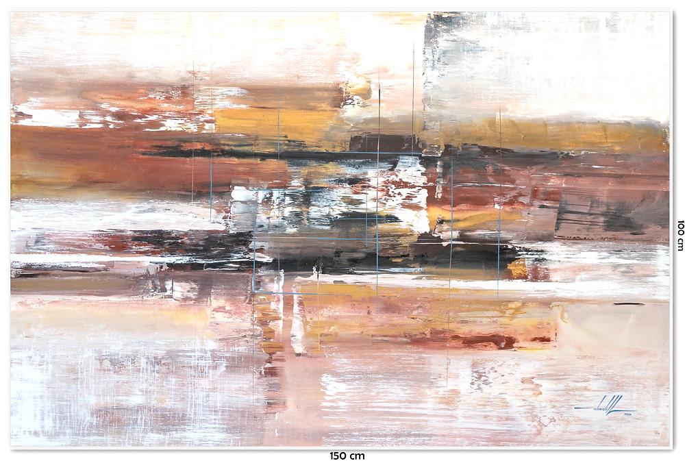 Quadro Abstrato Com Moldura