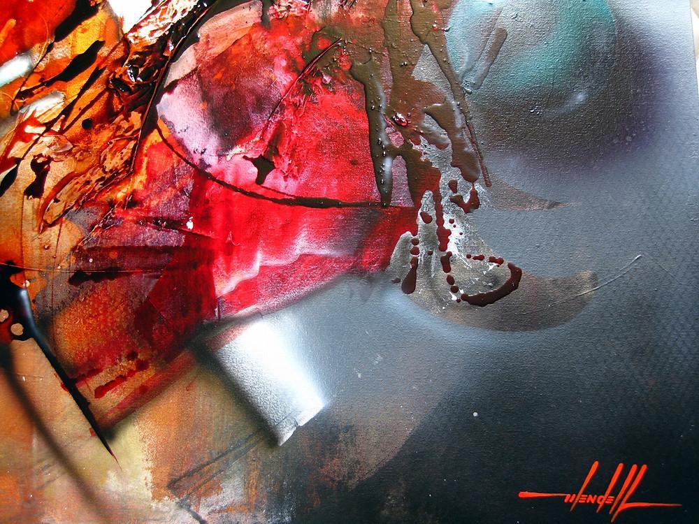 Um Quadro Abstrato Intenso