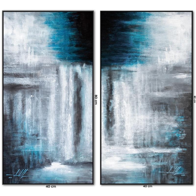 Dois Quadros com Pinturas Abstratas Em T