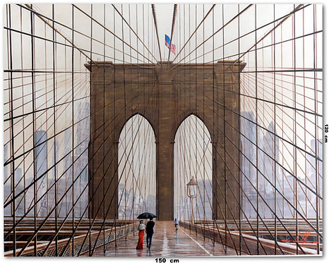 Obra De Arte New York Óleo Sobre Tela - 1,50 M X 1,20 M