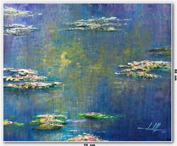 Pintura Impressionista Lago Giverny 75 C