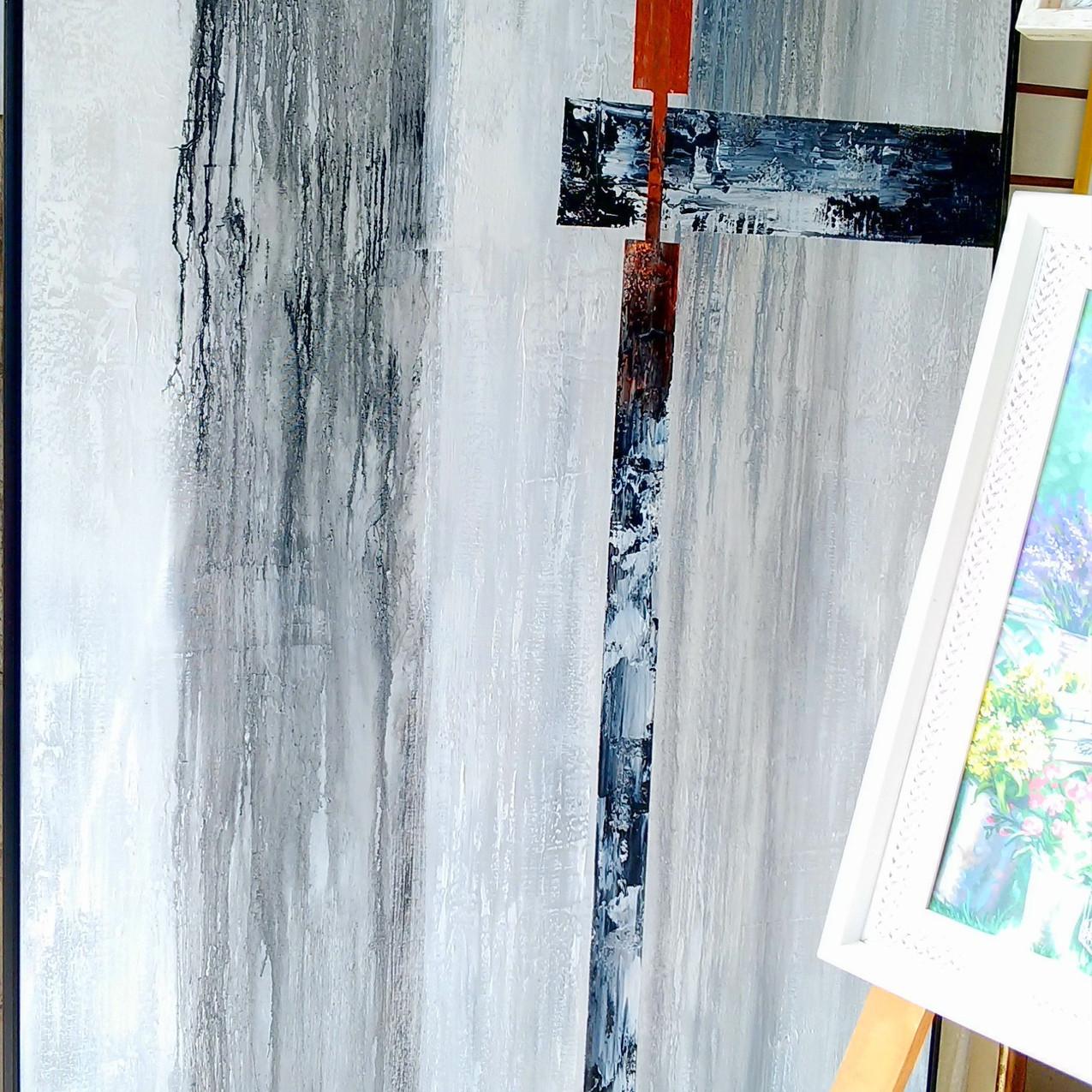 Pares De Quadros Abstratos Grandes (9)