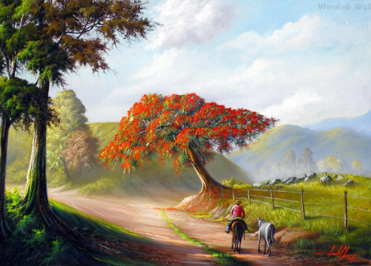 pintura de paisagem a oleo (1)