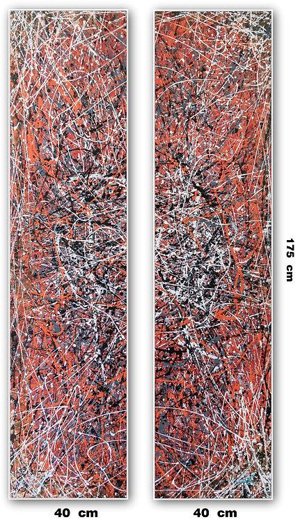 Duas Telas Abstratas Para Quadros de 40 cm X 175 cm