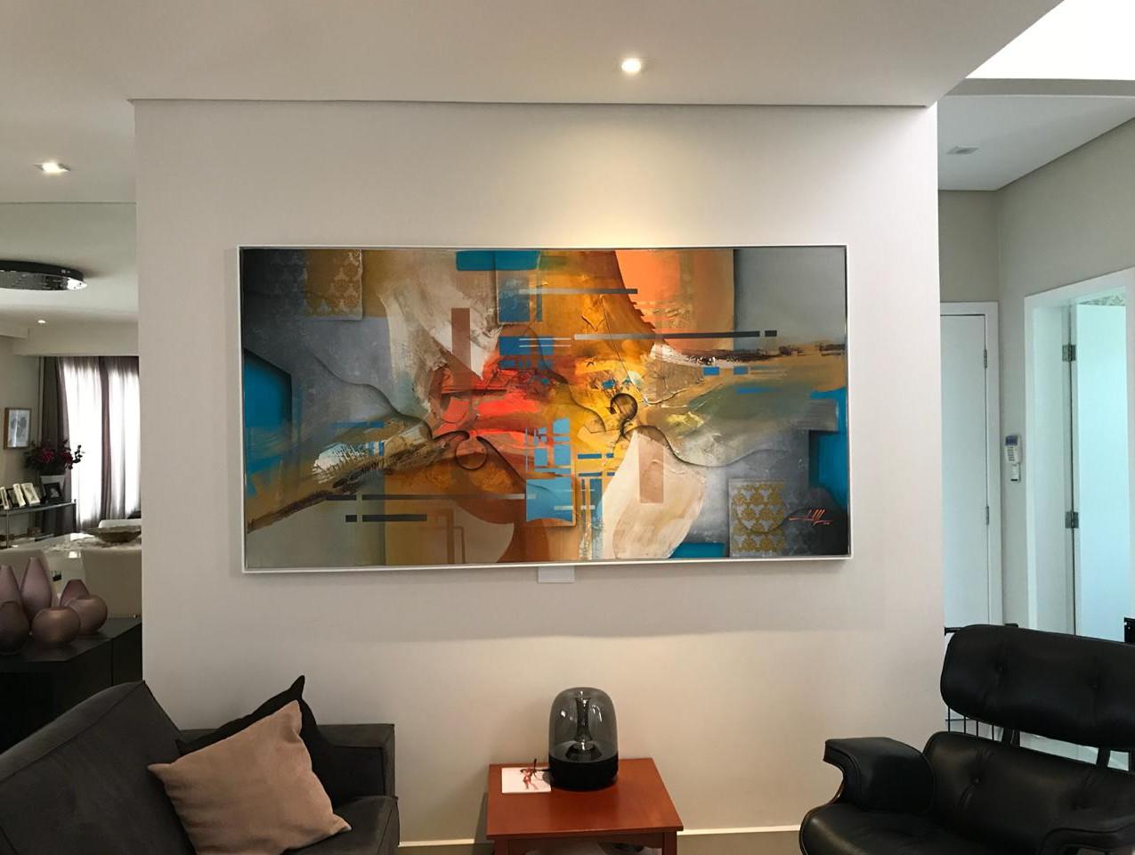 Pintura Abstrata Para Quadro Grande (1)