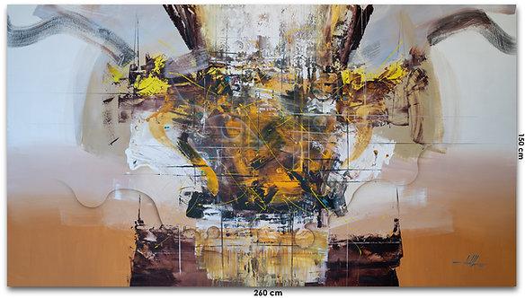 Pintura Abstrata Em Tela Para Quadro Gigante 260 cm X 150 cm