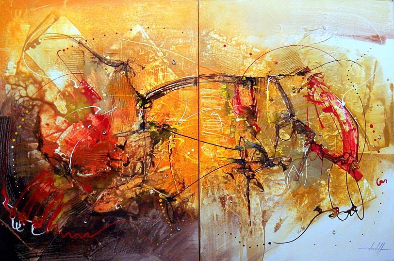 Dois Quadros Abstratos que se Completam