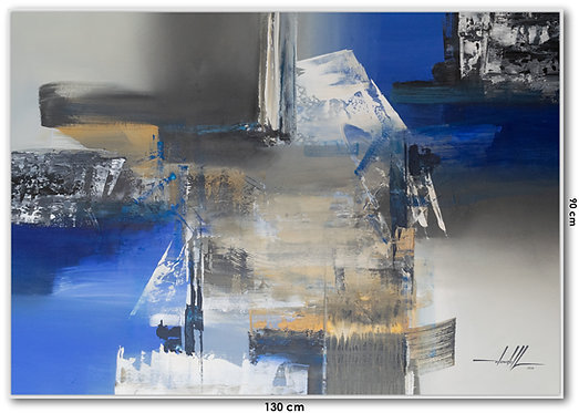 Pintura Abstrata Em Tela 130 cm X 90 cm - AlluBallo