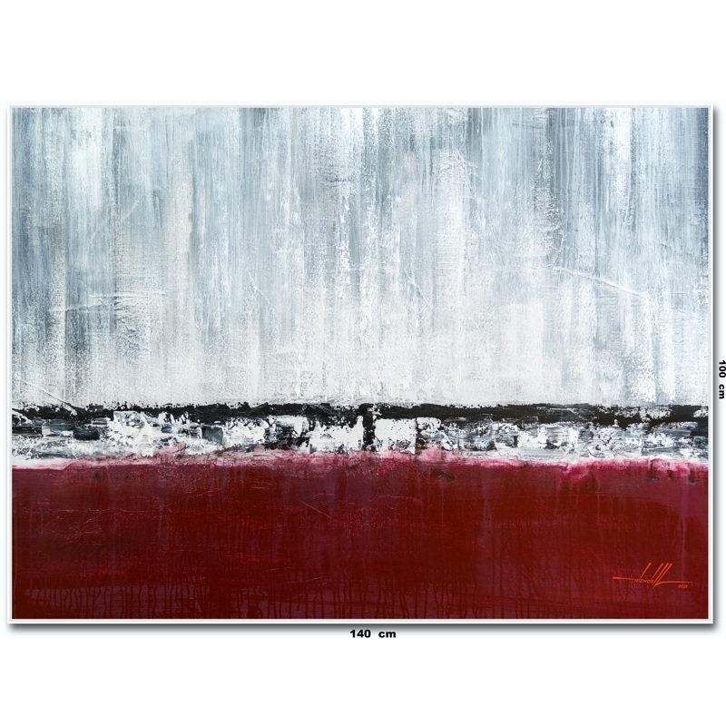 Pintura Abstrata Em Tela 1,40 M X 1 M 80